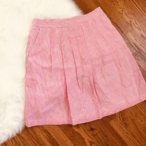 Brooks Brothers Pink White Pinstripe Pocket Skirt